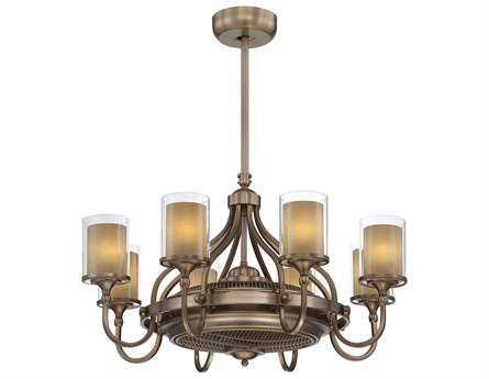 Savoy House Fan d'Lier Etesian Burnished Russett Air-Ionizing Eight-Light Ceiling Fan/Chandelier SV36329FD21