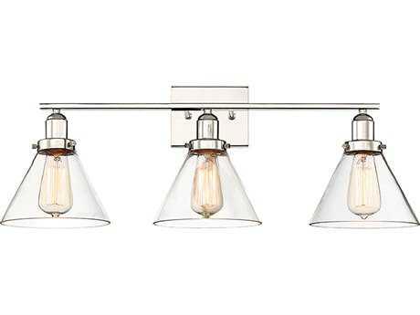 Savoy House Drake Polished Nickel Three-Light Vanity Light SV891303109
