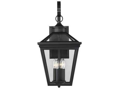 Savoy House Ellijay Black Four-Light 12'' Wide Outdoor Wall Light SV5142BK