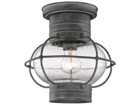 Savoy House Enfield Oxidized Black Outdoor Ceiling Mount Light SV522488
