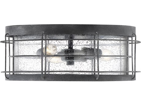 Savoy House Fletcher Oxidized Black Glass Industrial Outdoor Ceiling Light SV5267588