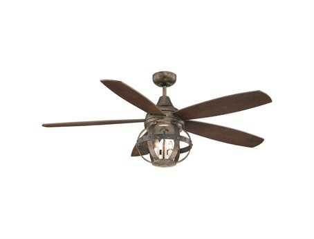 Savoy House French Country Alsace Reclaimed Wood Three-Light 52W Ceiling Fan SV528405CN196