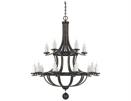 Savoy House French Country Alsace Reclaimed Wood 15-Light 48'' Wide Grand Chandelier SV1953315196