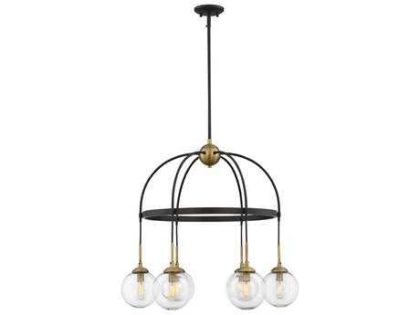 Savoy House Fulton English Bronze & Warm Brass Six-Light 27'' Wide LED Chandelier SV15002679