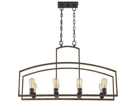 Savoy House Gage Woodland Bronze Eight-Light 12'' Wide Island Ceiling Light SV16059887