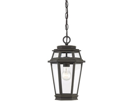 Savoy House Holbrook Textured Bronze With Gold Highlights Glass Outdoor Hanging Light
