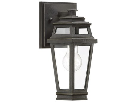 Savoy House Holbrook Textured Bronze With Gold Highlights Glass Outdoor Wall Light