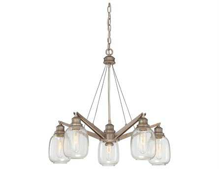 Savoy House Industrial Orsay Industrial Steel Five-Light 26'' Wide Chandelier SV14330527