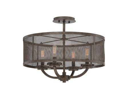 Savoy House Industrial Nouvel Galaxy Bronze Metal Four-Light Semi-Flush Mount Light SV62504442
