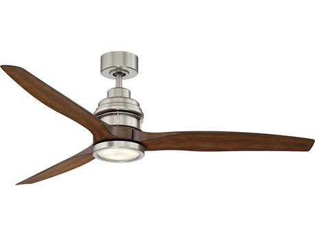 Savoy House La Salle Satin Nickel 60'' Three-Blade Ceiling Fan with Light Kit SV6050253KOSN