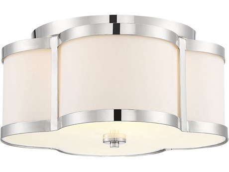 Savoy House Lacey Polished Nickel 16'' Wide Semi-Flush Mount