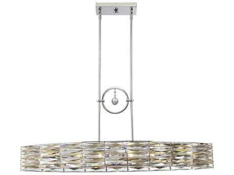 Savoy House Lancaster Polished Chrome Six-Light 41'' Wide Island Ceiling Light with Metal Candle Cover SV1973611