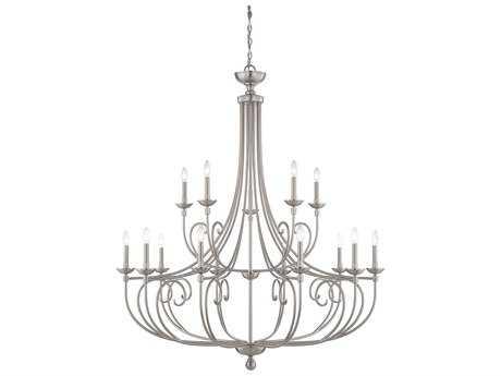 Savoy House Langley Satin Nickel 15-Light 50'' Wide Grand Chandelier SV165015SN