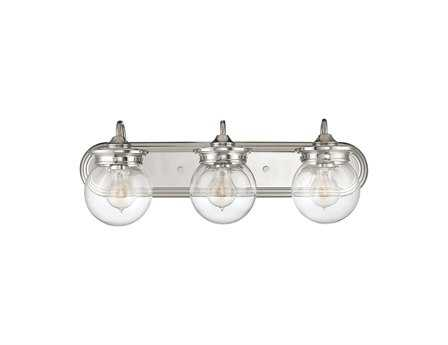 Savoy House Casual Lifestyles Downing Polished Nickel Three-Light Vanity Light SV82323109