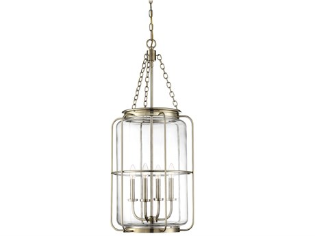 Savoy House Magnum Noble Brass 16'' Wide Glass Mini Chandelier