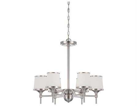Savoy House Main Street Hagen Satin Nickel Six-Light 23'' Wide Chandelier SV143816SN