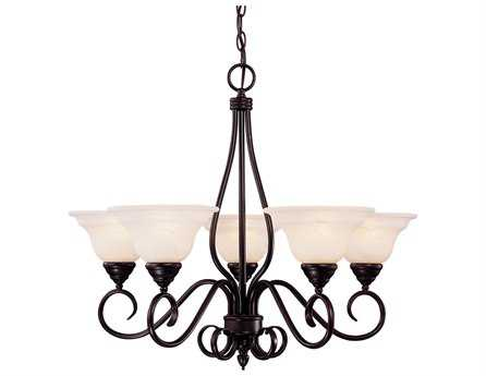 Savoy House Main Street Oxford English Bronze Five-Light 28'' Wide Chandelier SVKP94513