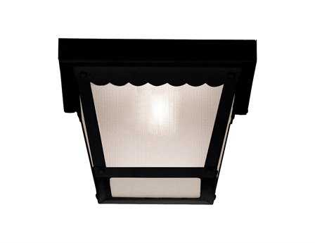 Savoy House Main Street Exterior Black Outdoor Flush Mount Light SV07044BLK