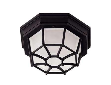 Savoy House Main Street Exterior Black Outdoor Flush Mount Light SV07065BLK