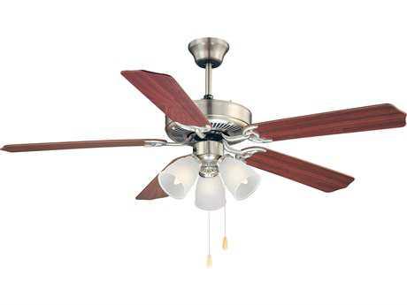 Savoy House Main Street First Value Satin Nickel Three-Light 52W Ceiling Fan SV52EUP5RVSN