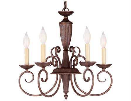 Savoy House Main Street Liberty Walnut Patina Five-Light 19'' Wide Mini Chandelier SVKP15005540