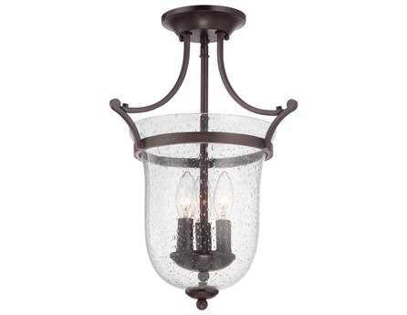 Savoy House Main Street Trudy English Bronze Three-Light Semi-Flush Mount Light SV67133313