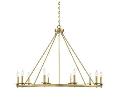 Savoy House Middleton Warm Brass 10-light 45'' Wide