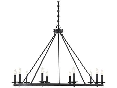 Savoy House Middleton Matte Black 10-light 45'' Wide