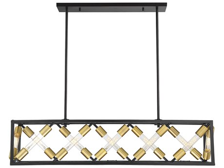 Savoy House Moritz English Bronze And Warm Brass 42'' Wide Island Light SV127811279