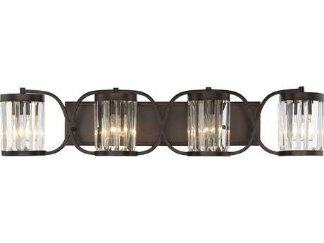 Savoy House Nora Burnished Bronze Four-Light 36'' Wide Vanity Light SV84063428