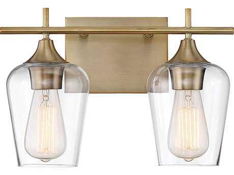 Savoy House Octave Warm Brass Two-Light Vanity Light SV840302322