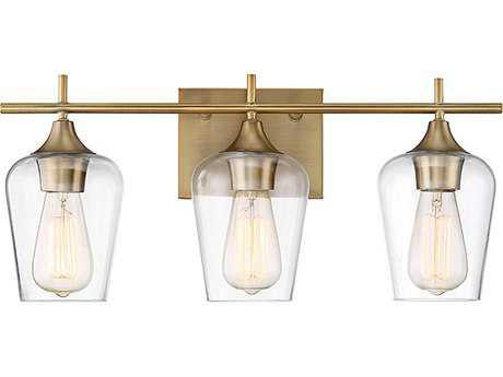 Savoy House Octave Warm Brass Three-Light Vanity Light SV840303322