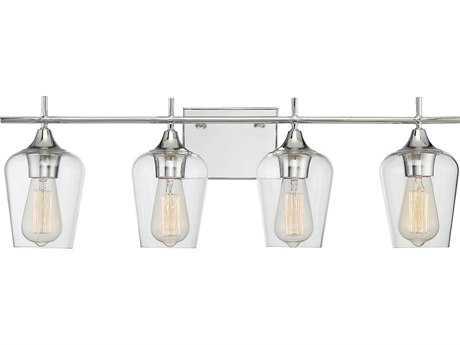 Savoy House Octave Polished Chrome Four-Light 28.75'' Wide Vanity Light SV84030411