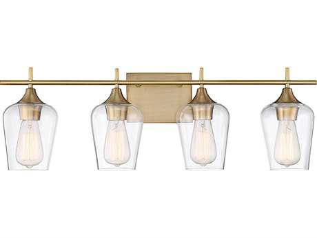 Savoy House Octave Warm Brass Four-Light Vanity Light SV840304322