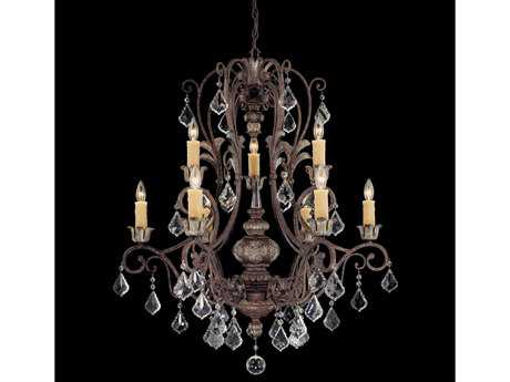 Savoy House Olde World Elizabeth New Tortoise Shell Nine-Light 33'' Wide Chandelier SV1P155898