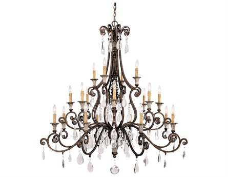 Savoy House Olde World St. Laurence New Tortoise Shell & Silver 20-Light 52'' Wide Grand Chandelier