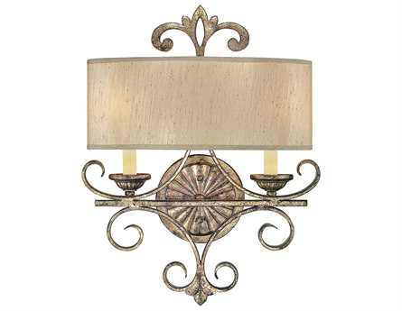 Savoy House Olde World Savonia Oxidized Silver Two-Light Wall Sconce SV95112128
