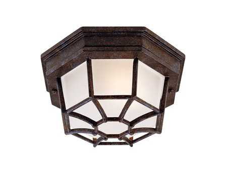 Savoy House Outdoor Living Exterior Rustic Bronze Outdoor Flush Mount Light