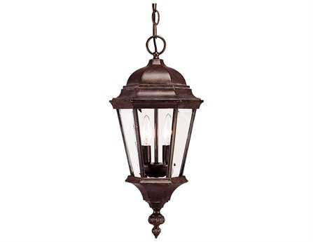 Savoy House Outdoor Living Wakefield Walnut Patina Two-Light Outdoor Hanging Pendant SV5130340