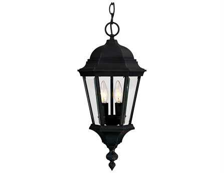 Savoy House Outdoor Living Wakefield Textured Black Two-Light Outdoor Hanging Pendant SV51303BK