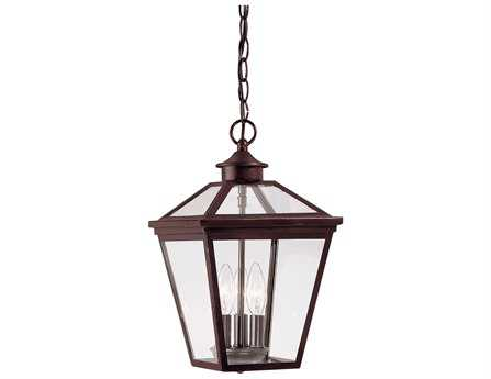 Savoy House Outdoor Living Ellijay English Bronze Three-Light Outdoor Hanging Pendant SV514613