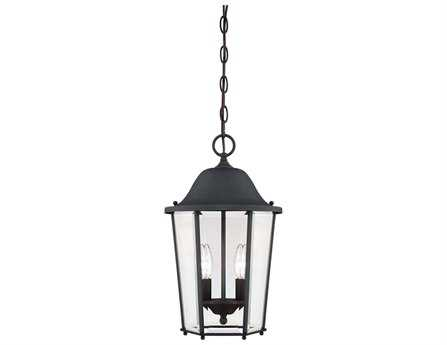 Savoy House Outdoor Living Truscott Black Two-Light Outdoor Hanging Pendant SV56210BK