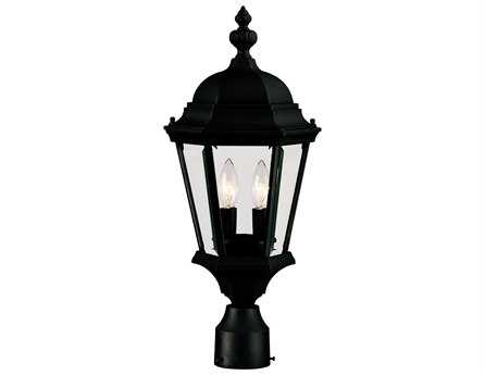 Savoy House Outdoor Living Wakefield Textured Black Two-Light Outdoor Post Light SV51305BK