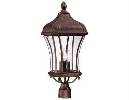 Savoy House Outdoor Living Realto Walnut Patina Three-Light Outdoor Post Light SV5380540
