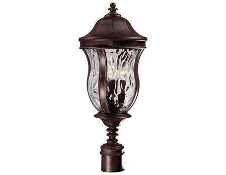 Savoy House Outdoor Living Monticello Walnut Patina Three-Light Outdoor Post Light SVKP530140