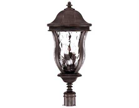 Savoy House Outdoor Living Monticello Walnut Patina Four-Light Outdoor Post Light SVKP530840