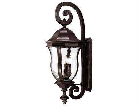 Savoy House Outdoor Living Monticello Walnut Patina Four-Light Outdoor Wall Light SVKP530340