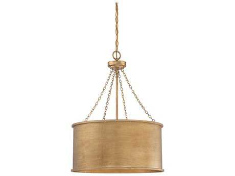 Savoy House Rochester Gold Patina Four-Light 19'' Wide Pendant Ceiling Light SV7487454