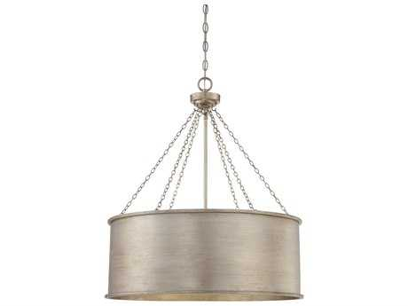Savoy House Rochester Silver Patina Six-Light 25'' Wide Pendant Ceiling Light SV7488653