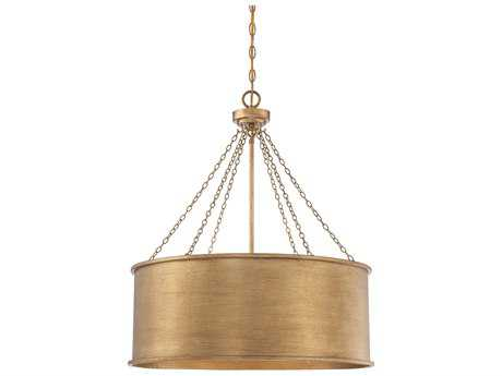 Savoy House Rochester Gold Patina Six-Light 25'' Wide Pendant Ceiling Light